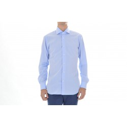 SHIRT MAN BARBA NAPOLI COLOUR BLUE WITH micro-pattern
