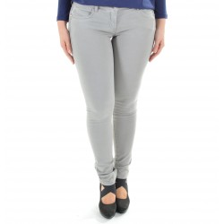 JEANS 5 TASCHE SKINNY IN CANVAS DI COTONE STRETCH BJ1186  AS04