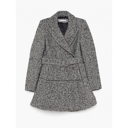 PEPE PATRIZIA - Double breasted coat in bouclé woolen cloth 2S115 A2WM