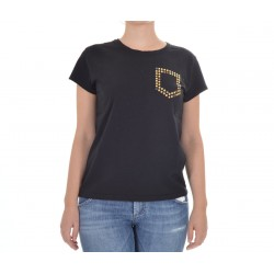 Roy Roger's - T-shirt donna in Cotone Stud