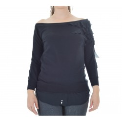 Patrizia Pepe - SWEATER WITH ROUCHE WOMAN 8J0761 A4BS