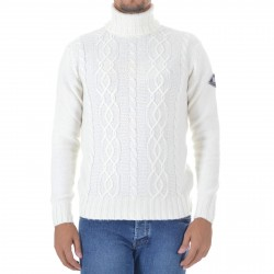 Men's Sweater Roy Roger's Turtel Neck Aran MAN Wool & Cashmere