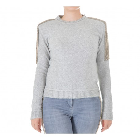 Patrizia Pepe - TRICOT WOMAN JERSEY WITH EMBROIDERY 2M3772 A5P2