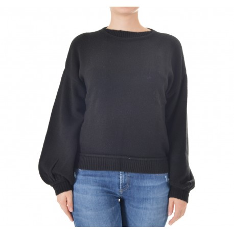 Patrizia Pepe - WOMEN'S TRICOT SHIRT WITH BALLOON SLEEVES 2M3769 A5P2