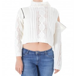 Patrizia Pepe - CROPPED WOMAN SWEATER 8M0866 A5F3