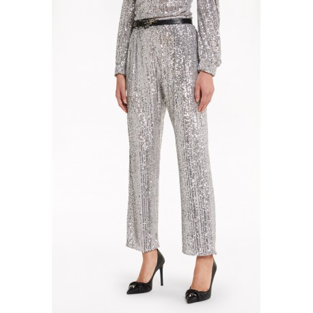 Patrizia Pepe - Women's sequin all-over trousers 2P1279 A6W6