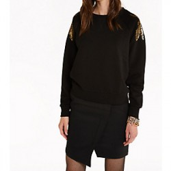 Patrizia Pepe - Women's sweatshirt with fly embroidery 8M1111 A701