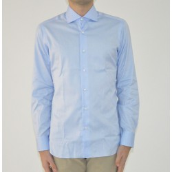 SHIRT MAN BARBA NAPOLI COLOR LIGHT BLUE WITH MICROFANTASY I1U13P01661601