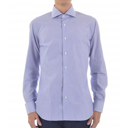 SHIRT MAN BARBA NAPOLI WHITE STRIPED BLUE I1U13P01662602U