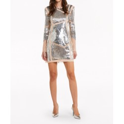 Patrizia Pepe - Women's sequin all-over mini dress 2A2150 A6W6