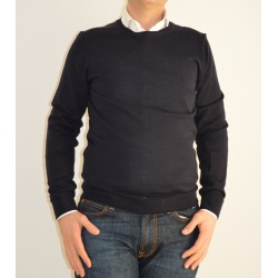 Crew-neck Men's Sweater with patches AP510996