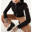 Colmar - Women's full zip hooded sweatshirt in cotton with glitter finishes 9002 4WI
