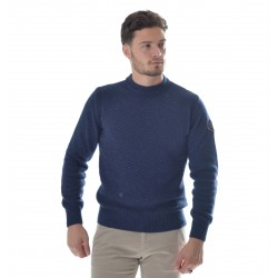 Men's Sweater Roy Roger's Half Neck Wool & Cashmere P. Canestro Fin. 7