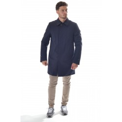 Montecore - Men's raincoat in heat-sealed wool and padded with Feather F01MUCX510T-126