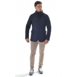 Montecore - Men's Jacket in technical fabric padded with Feather F01MUCX508-101