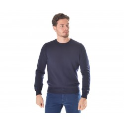 Crew-neck Men's Sweater with patches AP512224